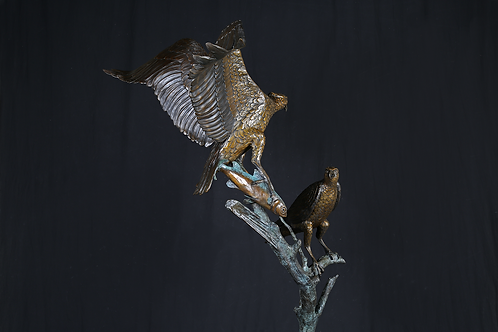 Life-Size Osprey Pair on Branch