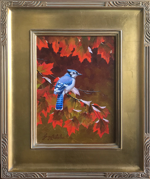 Blue Jay Southern Red Maple by Guy Coheleach