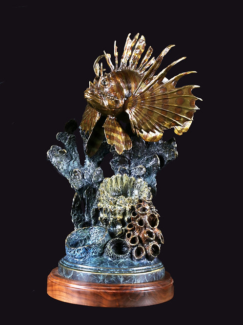 Lionfish with Coral