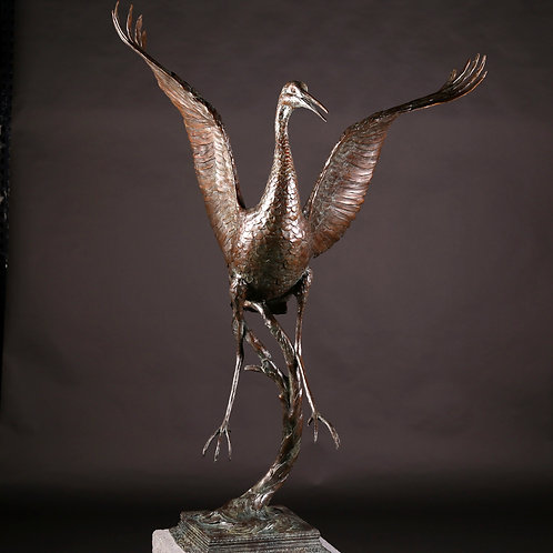 Sandhill Crane Dancing, Life-Size