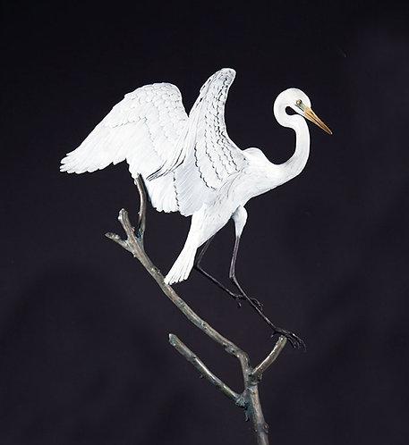Life-Size Great Egret Landing