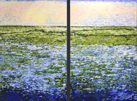 Wetlands Sunrise (Diptych)