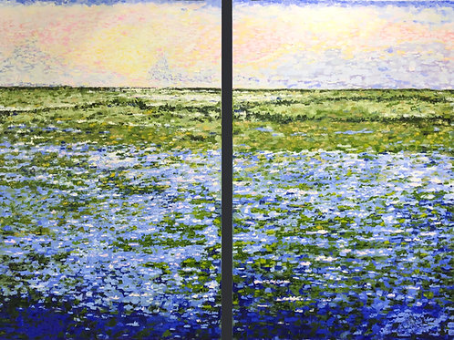 Wetlands Sunrise (Diptych)