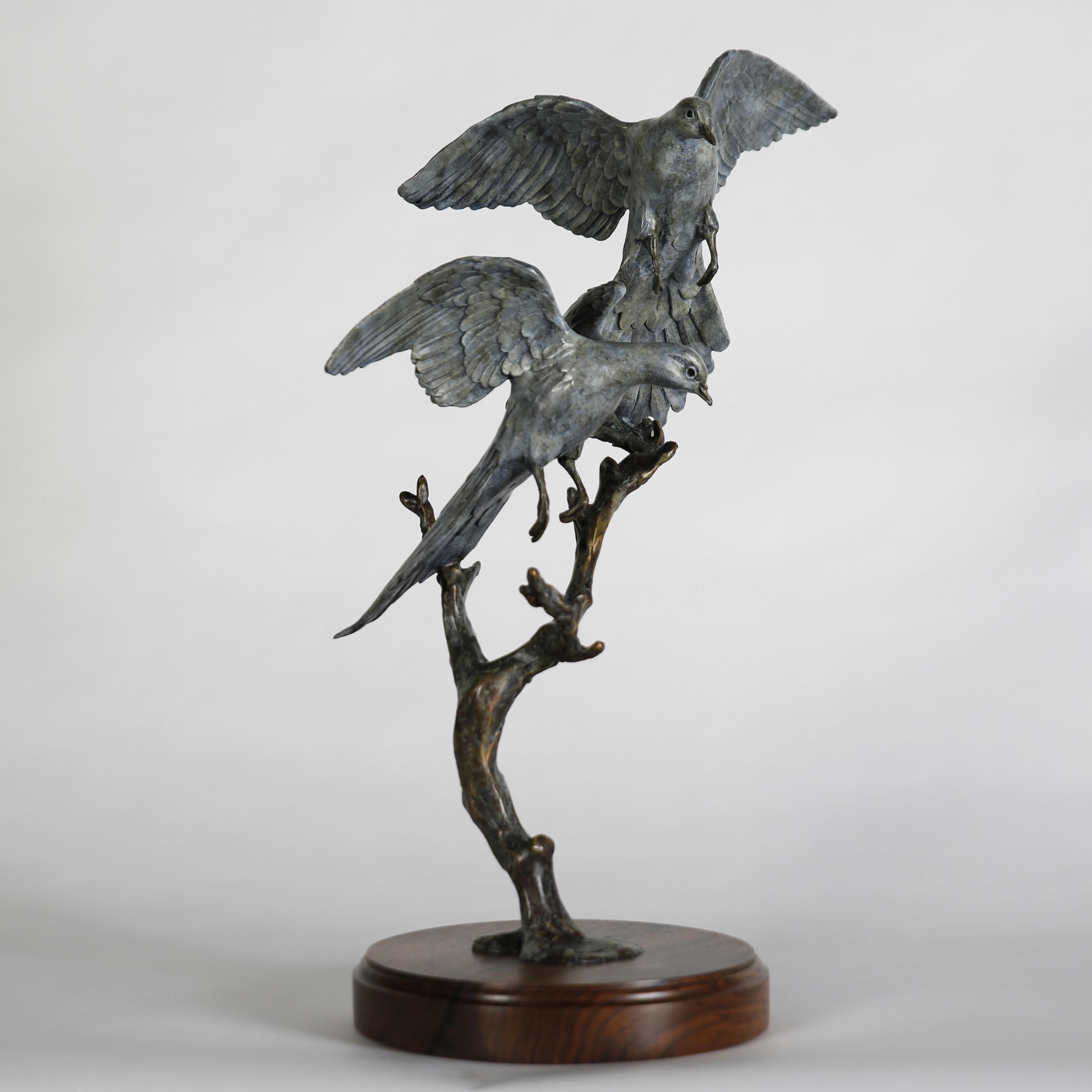 Two Graces Landing Dove Sculpture