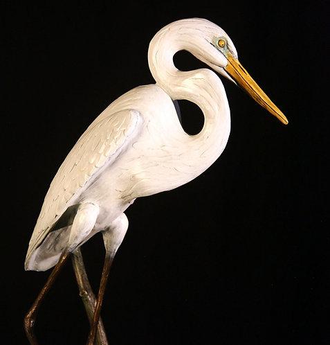 Life-Size Great Egret Resting