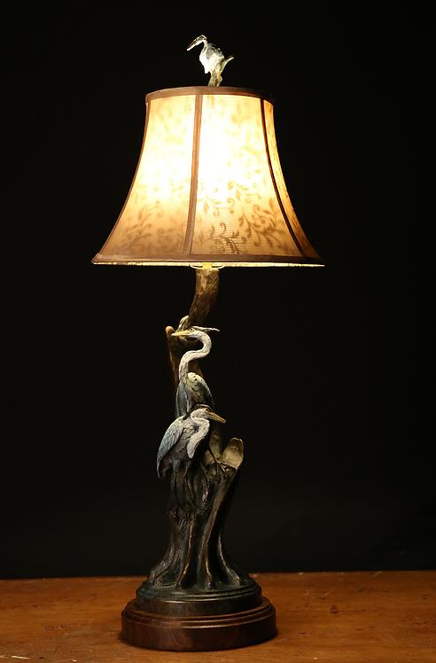 Blue Cypress Lamp, Great Blue Heron