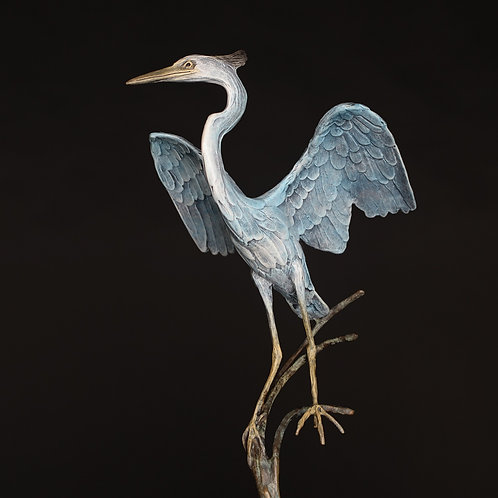 Great Blue Heron Landing, Small