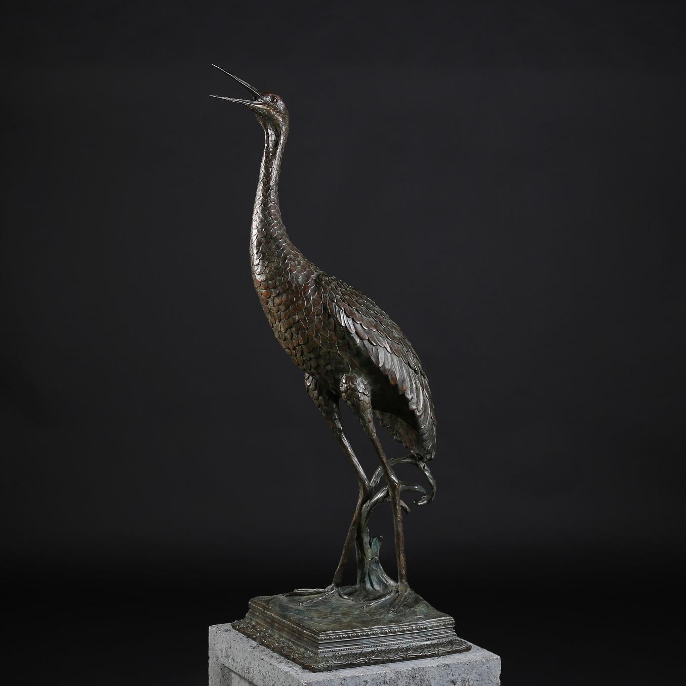 Life Size Sandhill Crane Calling