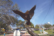 American Heritage (Eagle) is a bronze sculpture created by artist Geoffrey C. Smith. This eagle with its wings spread out on a branch can be found in Stuart, Florida.