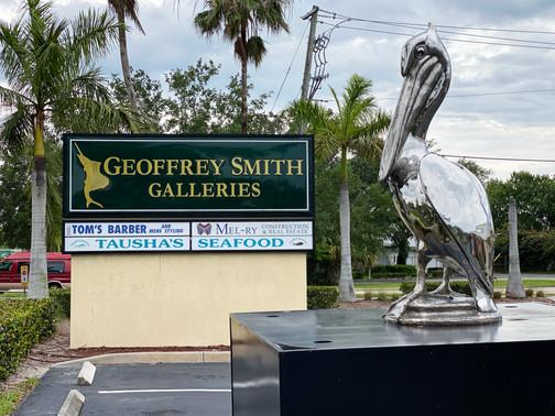 Stainless Steel Pelican near Studio Sign