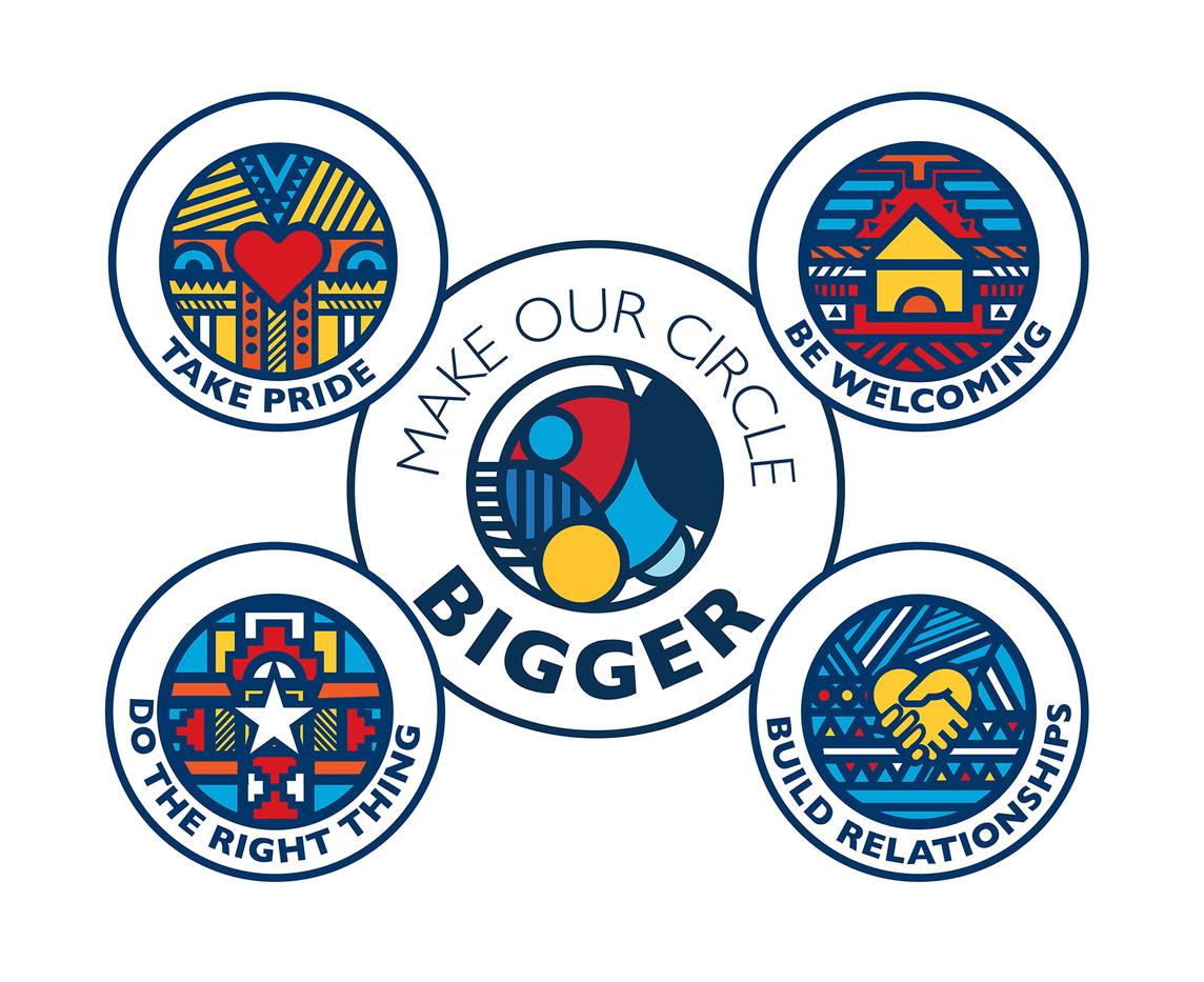 Make Our Circle Bigger Icons