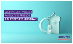 Actuate Eid Mubarak card K