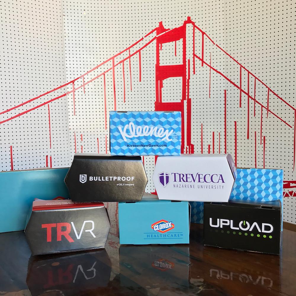 Custom branded google cardboard vr