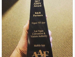 Vegas VR app wins a 2017 Addy Award for Mobile App!