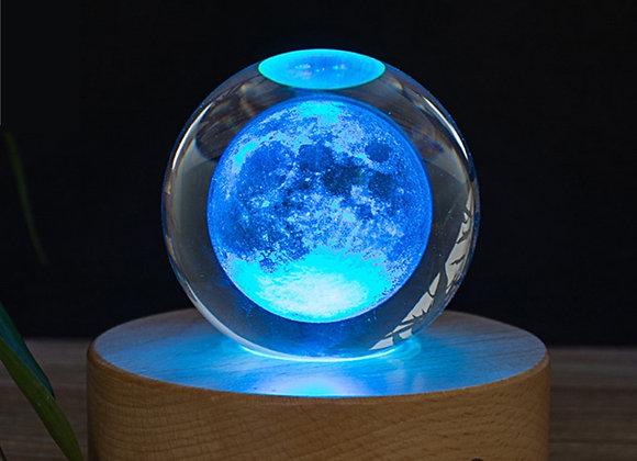 3D Moon Glass Crystal Ball