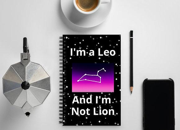 Leo Zodiac Spiral notebook