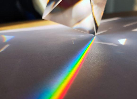 Rainbow Prism Optical Glass Crystal Pyramid