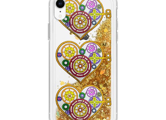 Value/Valve Heart Liquid Glitter IPhone Case
