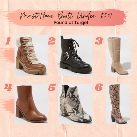 Must-Have Boots from Target Under $50!