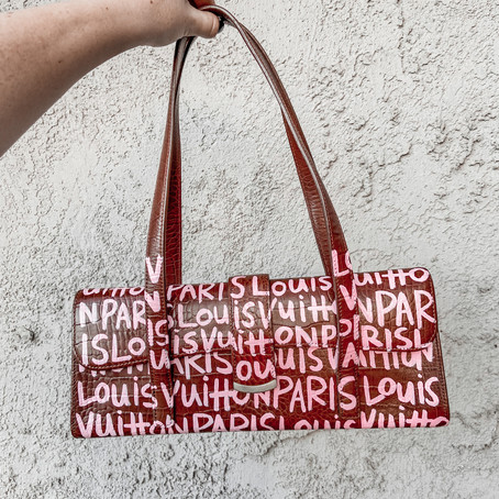 I Painted My Own Louis Vuitton Purse!