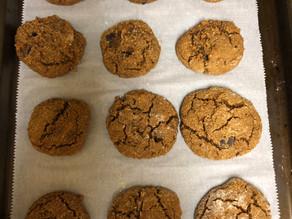 Paleo Pumpkin Dark Chocolate Almond Butter Cookies