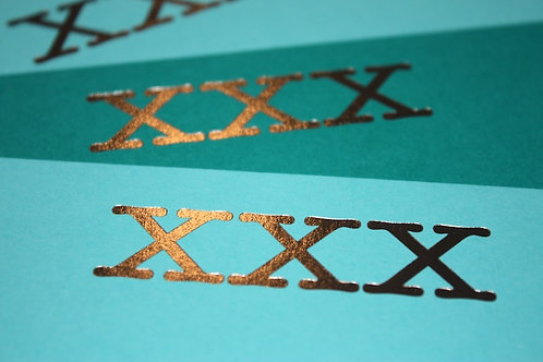 Luxury silver foiled kisses cards