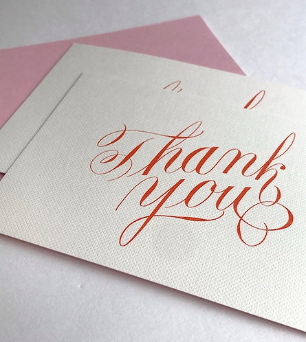 Luxury script thank you cards