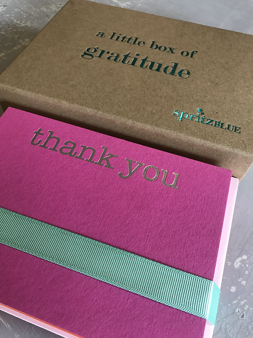 A Little Box of Gratitude (20 luxury cards & envelopes)