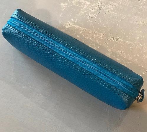 Leather pencil case - MARINE