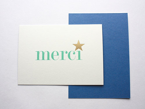 Luxury gold foiled merci cards (pack of 8)