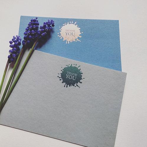 Luxury foiled ink splash cards (pack of 8)