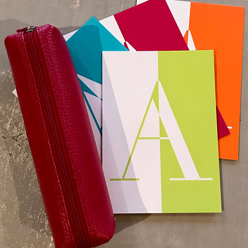 Alphabet stationery set