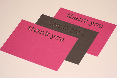 Luxury silver foiled thank you cards (pack of 8)