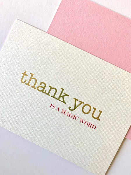 Luxury gold foiled thank you cards (pack of 8)
