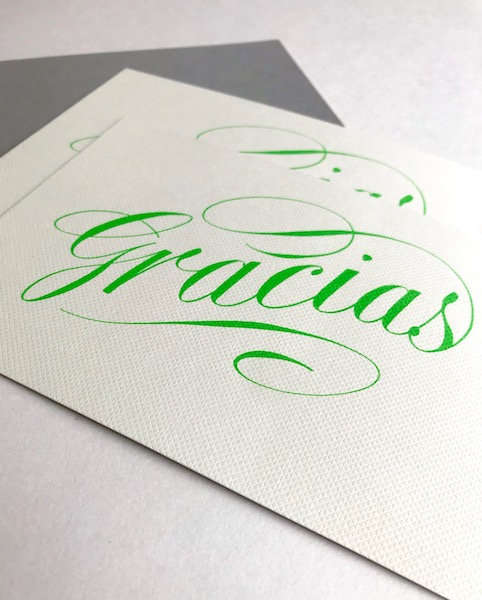Luxury script gracias cards
