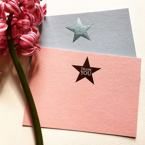 Luxury foiled stars cards (pack of 8)