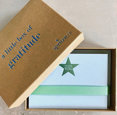 A Little Box of Gratitude (20 luxury cards & envelopes in a natural box)