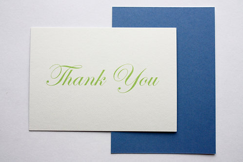 Luxury thank you script cards (pack of 8)