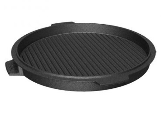 "BGE 10.5"" Dual Sided Cast Iron Plancha Griddle"