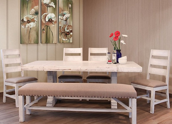 "79"" Terra White Rectangular Table"