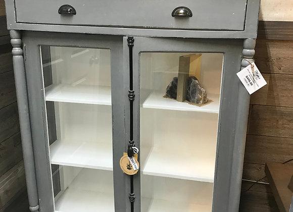 Alyssa Schepper Collection Antique Grey Glazed Curio Cabinet