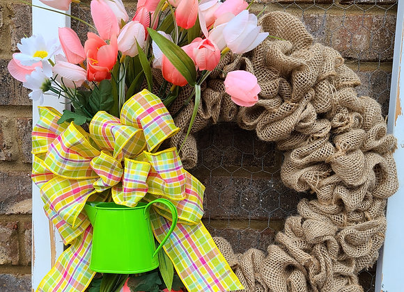 Tulip Burlap Wreath Class Feb. 27th 930am