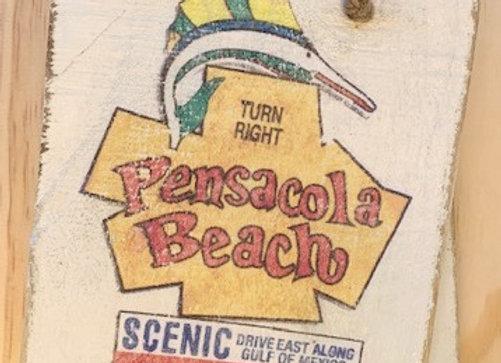 Small Pensacola Beach Sign from Vendor 112