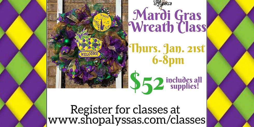 Mardi Gras Wreath Class