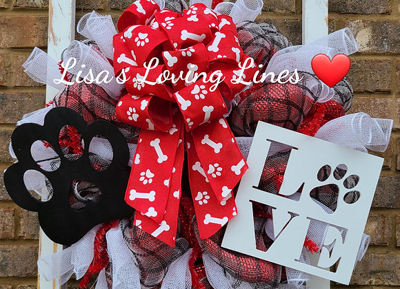 Pup Paws Wreath Class