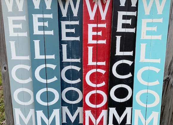Tall Welcome Signs by Vendor 112