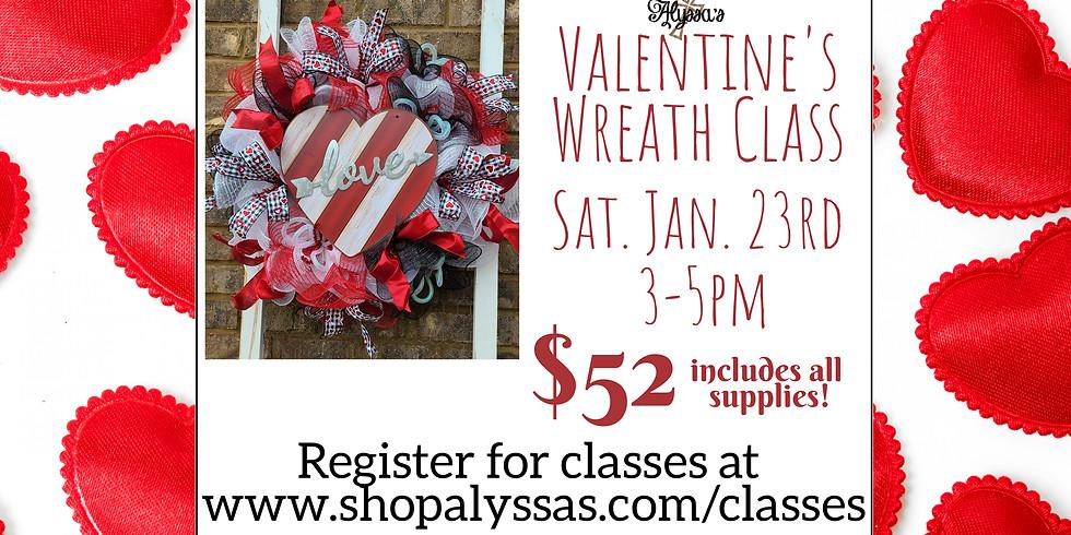 Valentine's Wreath Class