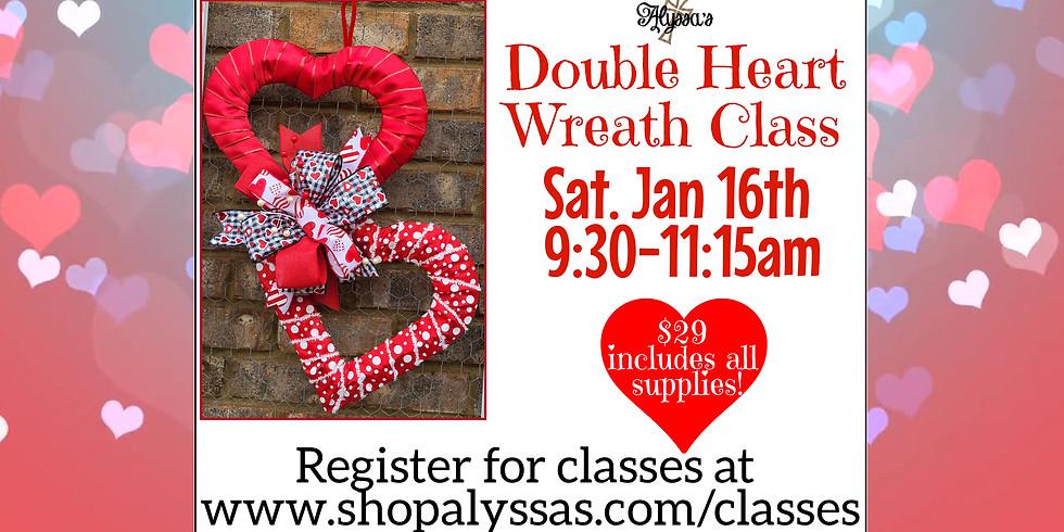 Double Heart Wreath Class