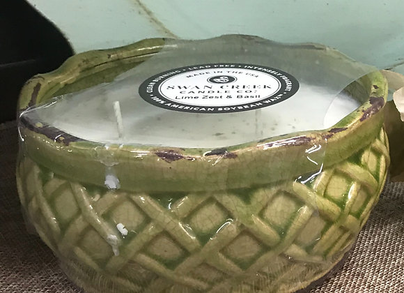Swan Creek Round Farm Bowl Pottery Candle