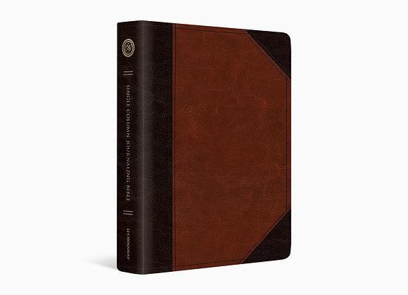 ESV Single Column Journaling Bible, Brown/Cordovan